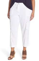 Plus Size Women's Eileen Fisher Crop Cargo Pants White
