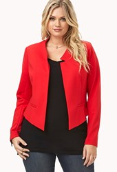 Forever 21 Plus Size Sophisticated High Cut Blazer Fiery Red