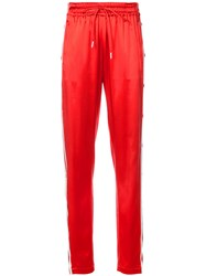 Monse Side Snap Joggers Red