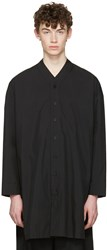 D.Gnak By Kang.D Black V Neck Shirt