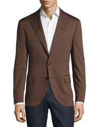 Brunello Cucinelli Wool Blend Chevron Jacket Barley