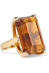 Fred Leighton 1940S 18 Karat Gold Citrine Ring
