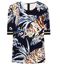 Stella Mccartney Printed Crepe T Shirt Multicoloured