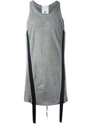 Lost And Found Rooms Stripe Applique Tank Top Grey