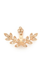 Jacquie Aiche Cluster Stud And Mirrored Leaves Earring Rose Gold Clear