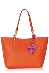 Oasis Reversible Bow Shopper Bag Pink