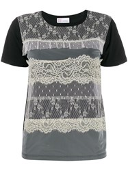 Red Valentino Lace Overlay T Shirt 60