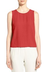 Eileen Fisher Women's Silk Round Neck Shell Serrano