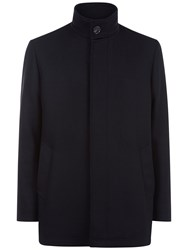 Jaeger Wool Twill Car Coat Black