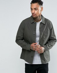 Asos Military Style Jacket In Khaki Khaki Green