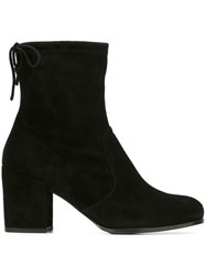 Stuart Weitzman Block Heel Booties Black