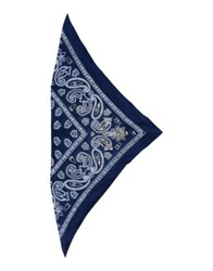 Pinko Grey Square Scarves Dark Blue