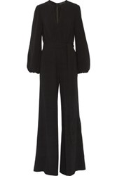 Co Crepe Wide Leg Jumpsuit Black