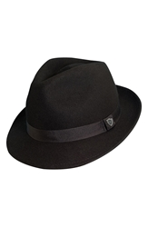 Dorfman Pacific '1921' Crushable Felt Fedora Black