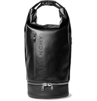 Givenchy Jaw Convertible Leather Trimmed Coated Canvas Tote Bag Black