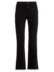 Helmut Lang High Rise Straight Leg Jeans Black