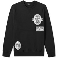 Alexander Mcqueen Skull Patch Crew Sweat Black