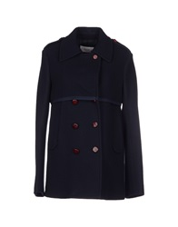 M.Grifoni Denim Coats Dark Blue