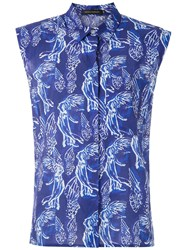 Andrea Marques Structured Shoulders Printed Shirt 60