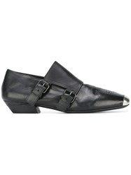 Marsell Buckled Toe Detail Slippers Black