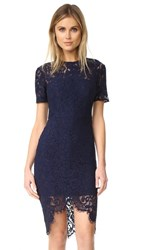 Lover Oasis Fitted Dress Navy