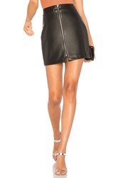 By The Way. Lyss Faux Leather Mini Skirt Black