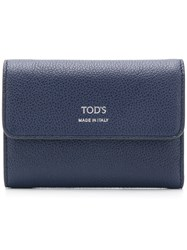 Tod's Foldover Top Wallet Blue