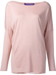 Ralph Lauren Boat Neck Jumper Pink And Purple