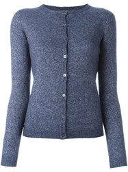 Liska Round Neck Cardigan Blue
