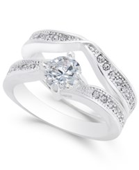 Charter Club Silver Tone Cubic Zirconia Pave Double Ring Only At Macy's