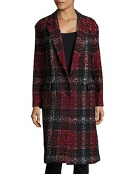 Dkny One Button Jacquard Coat Black