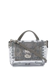 Zanellato Embroidered Perspex Box Bag Grey