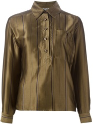 Jean Louis Scherrer Vintage Striped Shirt Green
