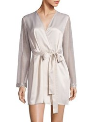 Flora Nikrooz Showstopper Venise Lace Robe Ivory