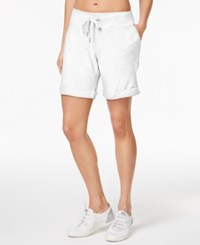 Calvin Klein Performance Cuffed French Terry Shorts White