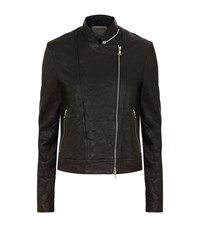 L'agence Devon Asymmetrical Leather Jacket Black