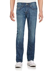 True Religion Distressed Wide Leg Jeans Desert Blue