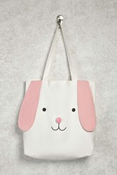 Forever 21 Bunny Graphic Tote Bag White Multi