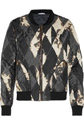 Tomas Maier Printed Quilted Shell Bomber Jacket Black