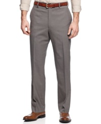 Louis Raphael Dress Pants Comfort Fit Wool Straight Fit Taupe