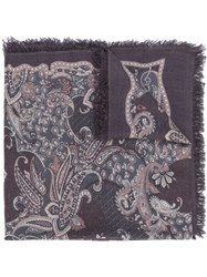 Hemisphere Paisley Scarf Pink And Purple