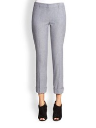 Burberry Odell Cropped Pants Pale Blue