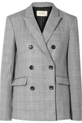 Equipment Tabitha Simmons Hamish Oversized Prince Of Wales Checked Voile Blazer Gray