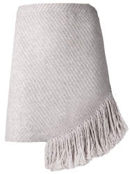 Thakoon Addition Fringe Mini Skirt Grey