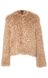 Ulla Johnson Iris Fur Cardigan Brown