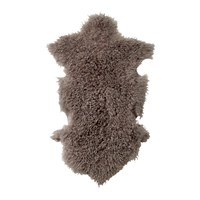 Bloomingville Mongolian Lambskin Rug Light Grey