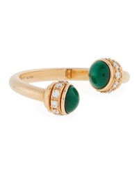 Piaget Possession 18K Rose Gold Malachite And Diamond Ring