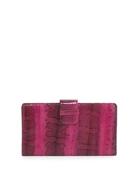 Beirn Watersnake Continental Wallet Pansy Bright Pink