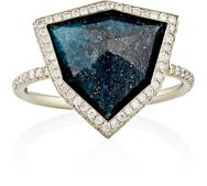 Monique Pean Mixed Gemstone Shield Ring Colorless