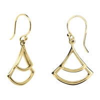 Dinny Hall 22Ct Gold Plated Sterling Silver Trapeze Double Drop Earrings Gold